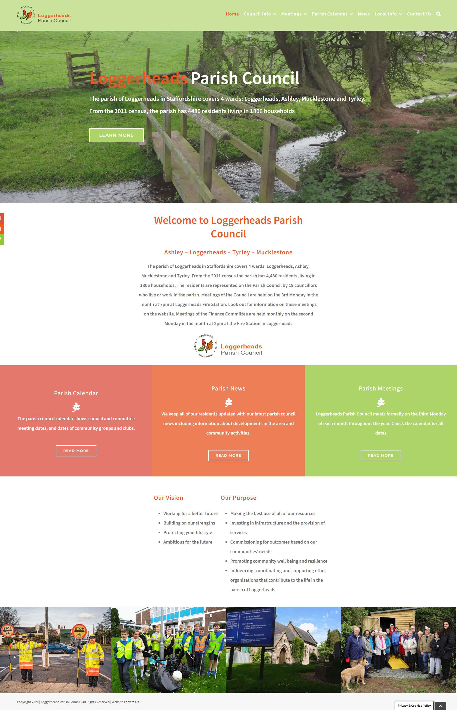 Loggerheads Parish Council Website Designed by Carrera UK