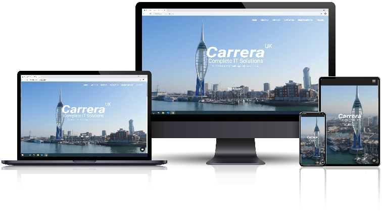Responsive Website Phone in Portsmouth Hampshire